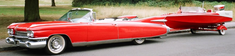 1957 Performer Speedboat and 1959 Cadillac Eldorado Biarritz
